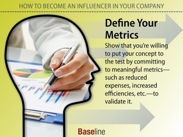 Professionals become influencers by gaining the confidence of other influencers. So identify and align with decision-drivers who hold high-level positions or are key team members.