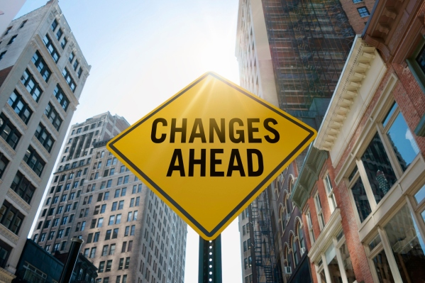 """Changes ahead""traffic sign"